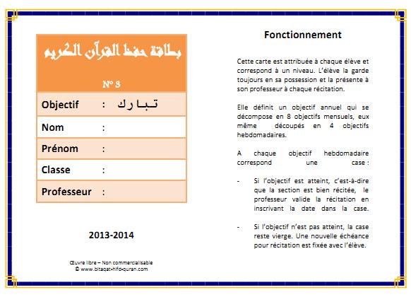 Carte n°3 par Hizb recto