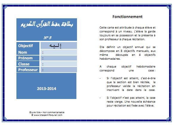 Carte n°5 par Hizb recto