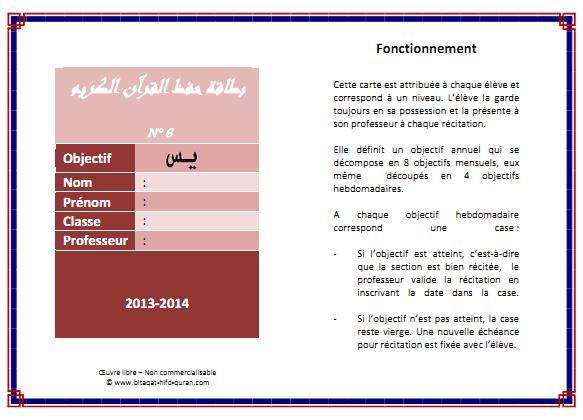 Carte n°6 par Hizb recto