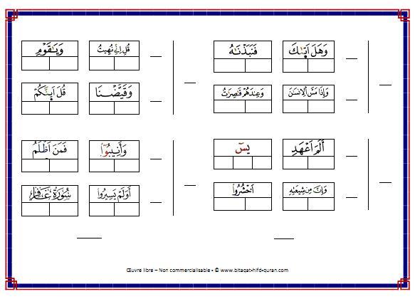 Carte n°6 par Hizb verso